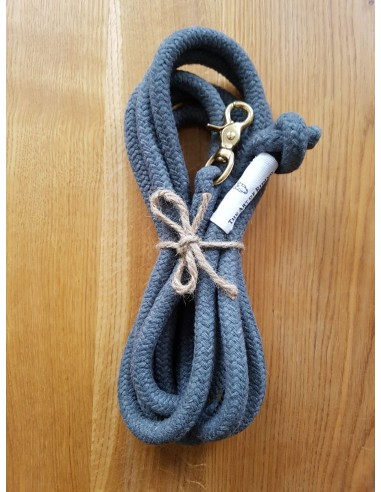 Rope grey with brass snap