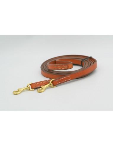 Reins light brown leather Marjoman 14 mm